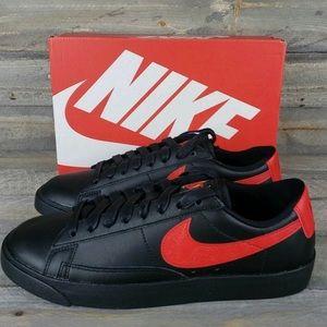 Nike blazer low black red floral women's shoes